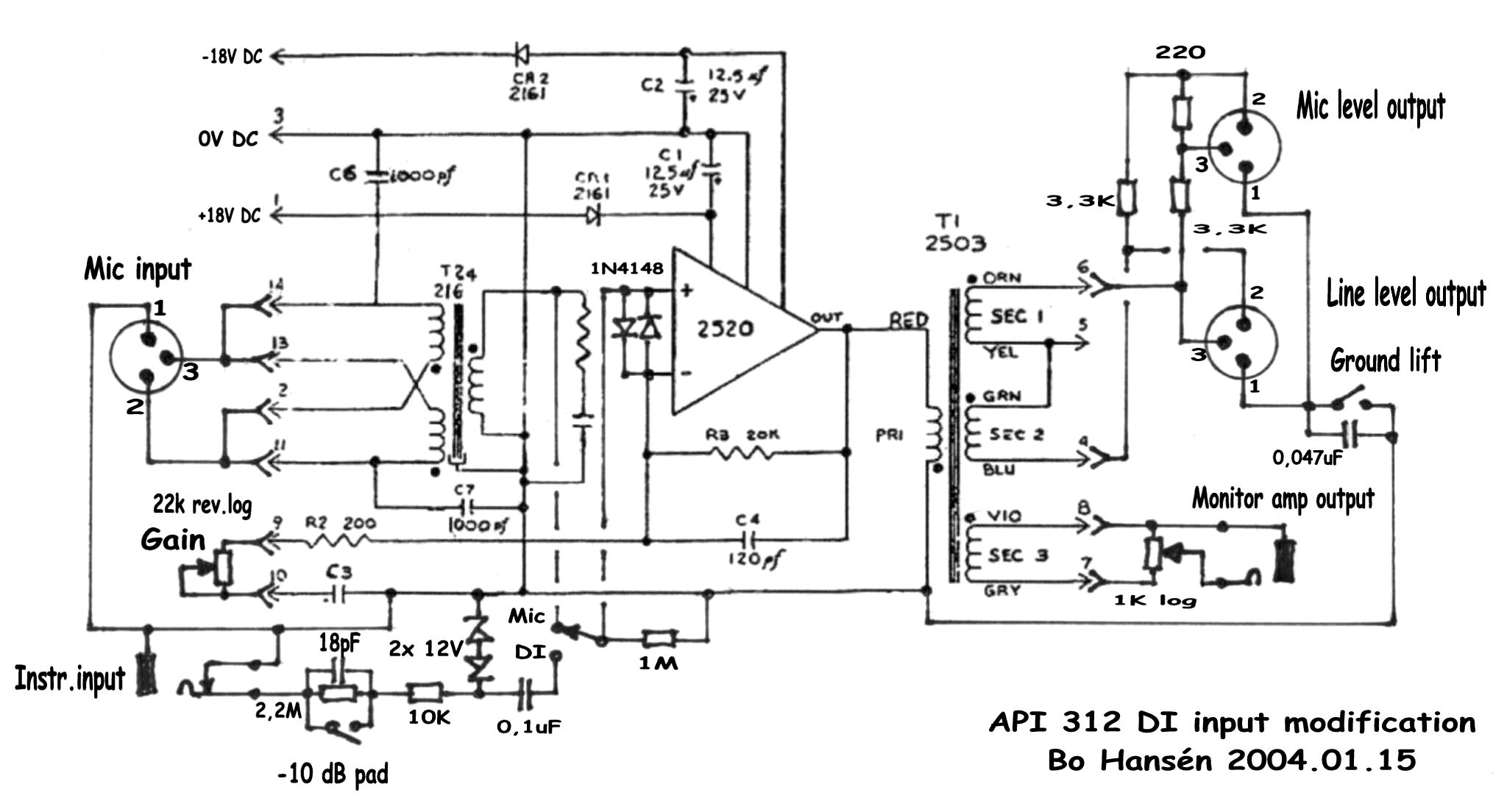Hansn Audio Gothenburg Carbon Microphone Circuit Modified Schematic Api 312 Di Mod 200915 Byte