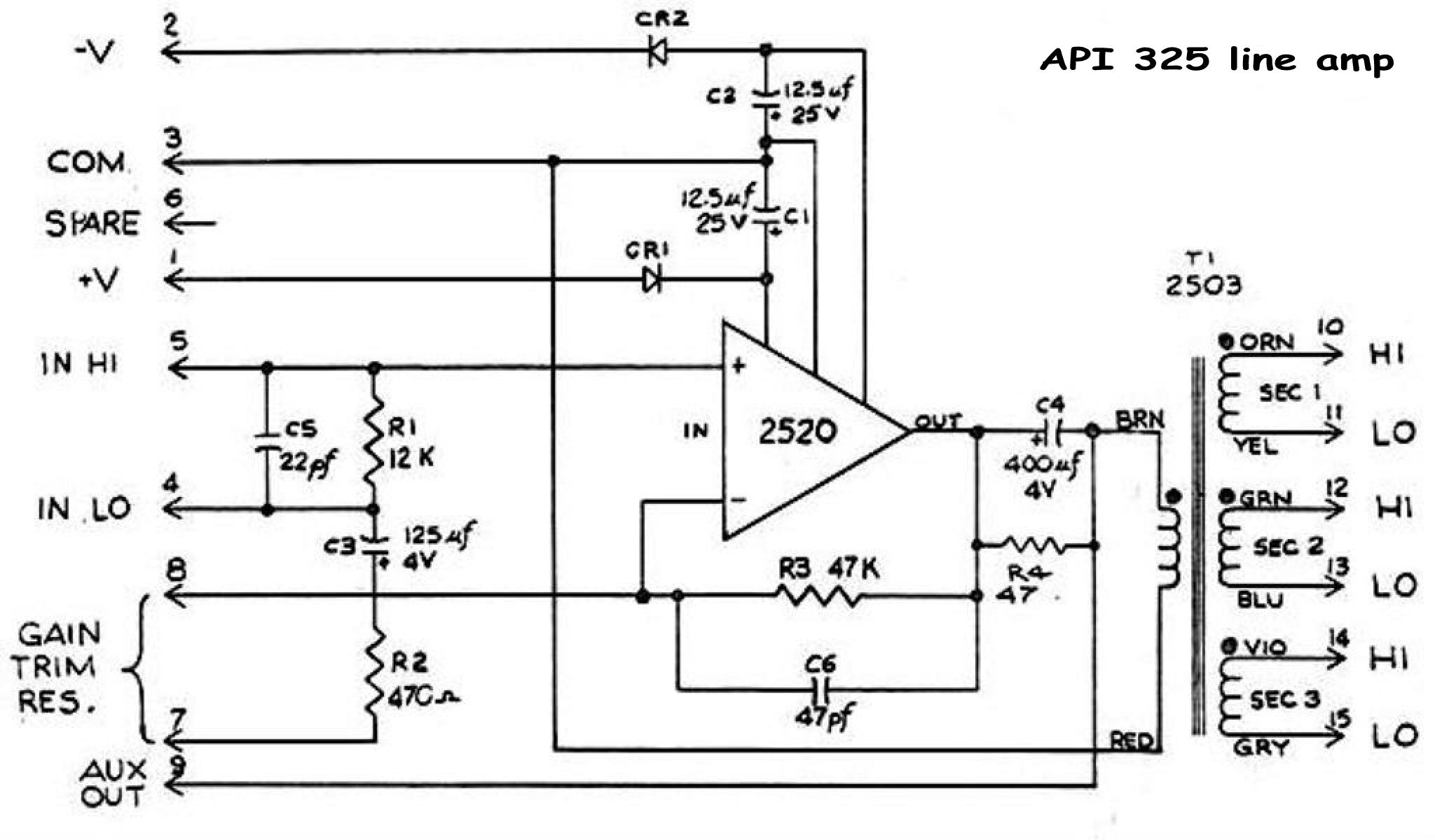 Hansn Audio Gothenburg Opamp And Level Meter Circuits Are Incorporated Into A Mixing Circuit Orginal Schematic Api 325 Line Amp 214962 Byte