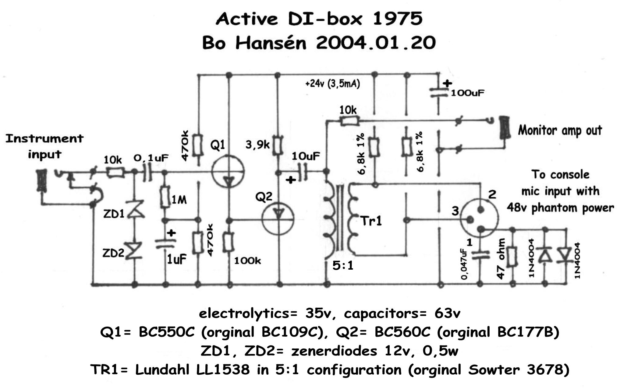 Hansn Audio Gothenburg Mic Mixer Circuit Schematic Active Di Box 1975 241074 Byte